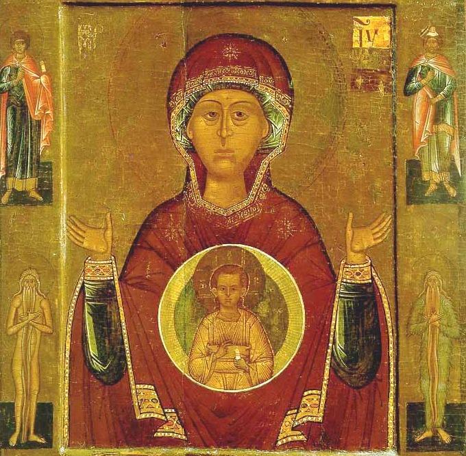 Икона Божией Матери «Знамение» Новгородская