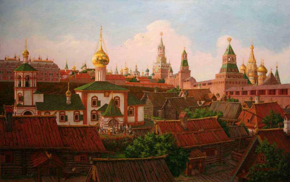 С.Глушков. Подол Московского Кремля в 17 веке
