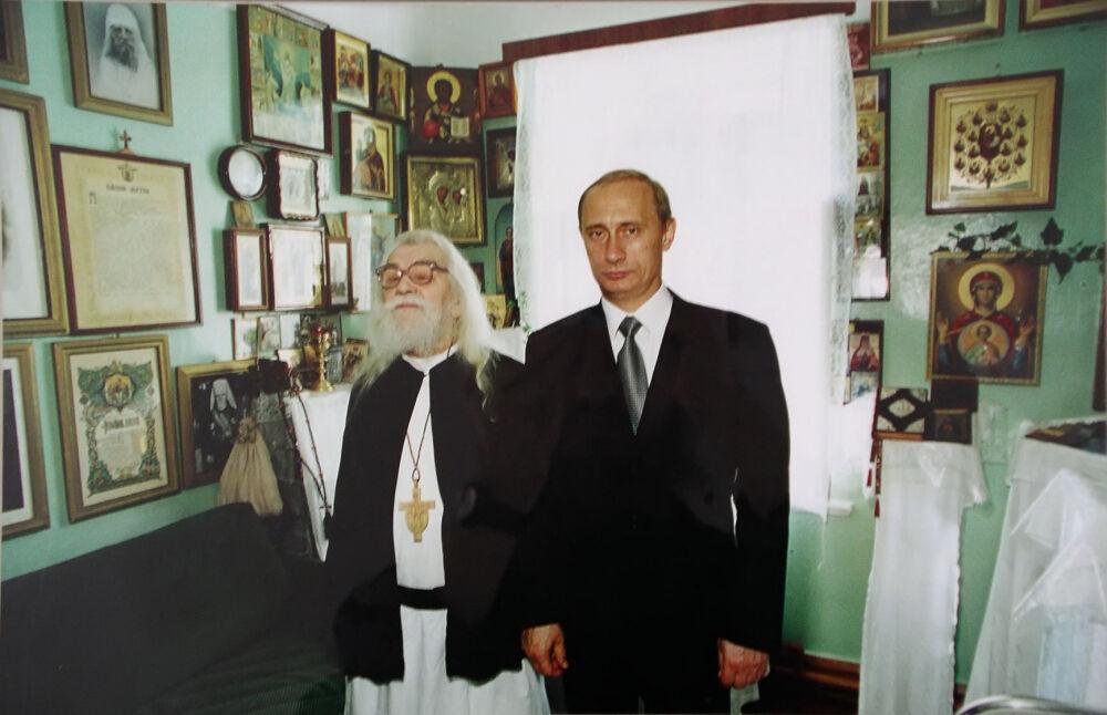 Редкое фото. Владимир Путин и Иоанн Крестьянкин   Печоры Псковские ...