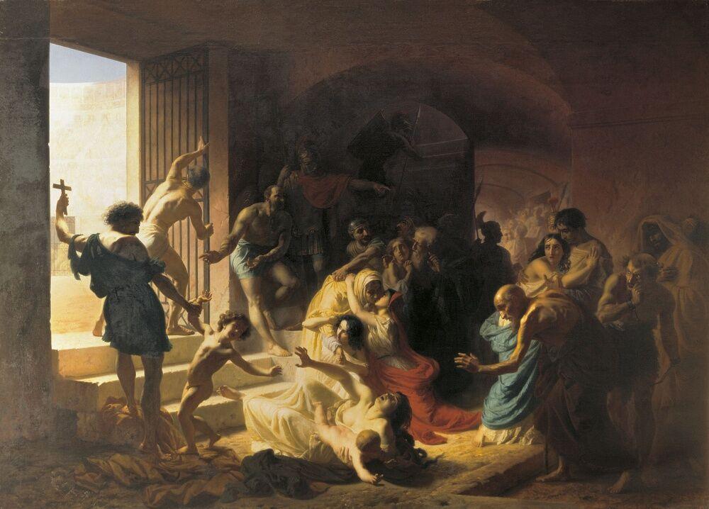 Христианские мученики в Колизее — Википедия