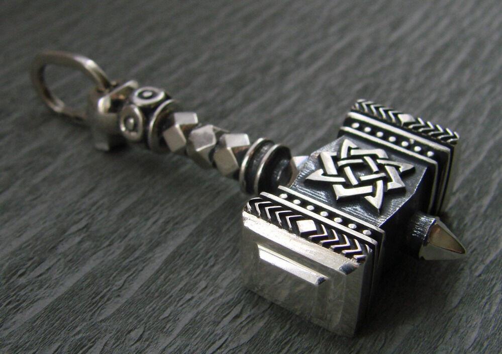 Купить Молот Сварога большой - славянский оберег из серебра 925 ...