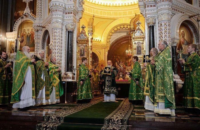 В праздник Входа Господня в Иерусалим Предстоятель Русской Церкви ...