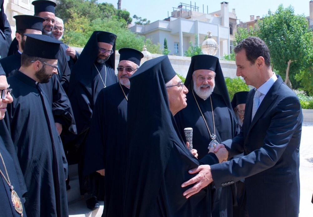 Башар Асад встретился с новым патриархом Мелькитской Церкви ...