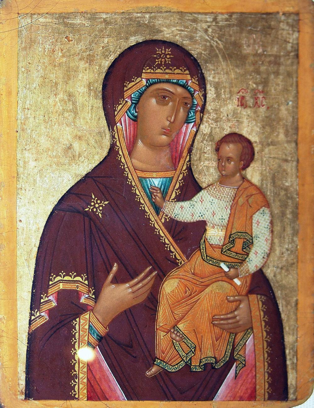 Богоматерь Одигитрия. Св. Троица (Гостеприимство Авраамово). Икона ...
