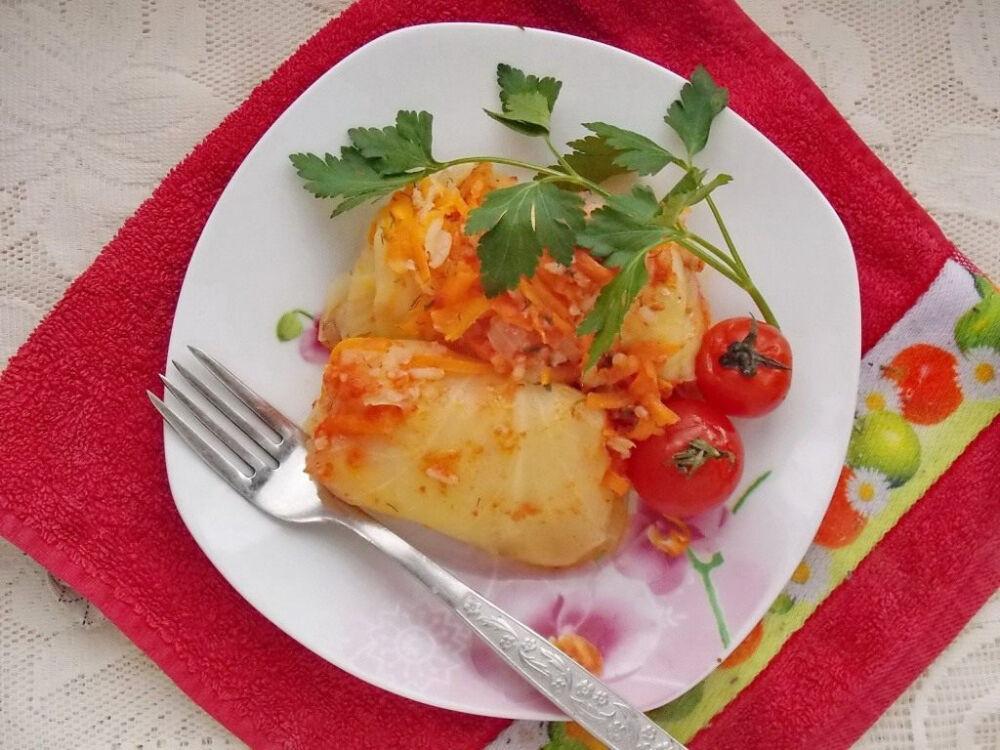 Постные голубцы с овощами. Пошаговый рецепт с фото — Ботаничка.ru
