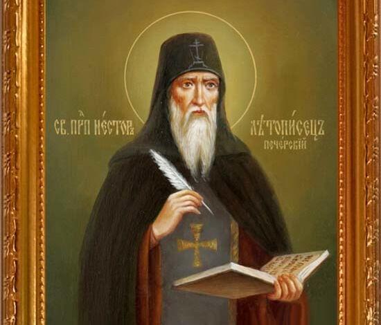 Купить икону Нестор Летописец Печерский Преподобный. Икона на холсте.