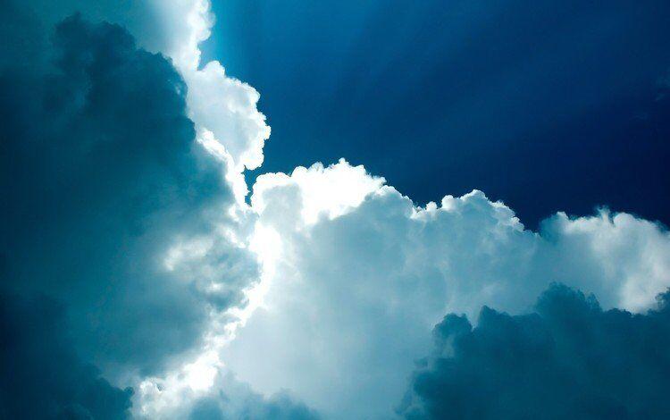 Обои небо, облака, природа, бог, the sky для рабочего стола #5767