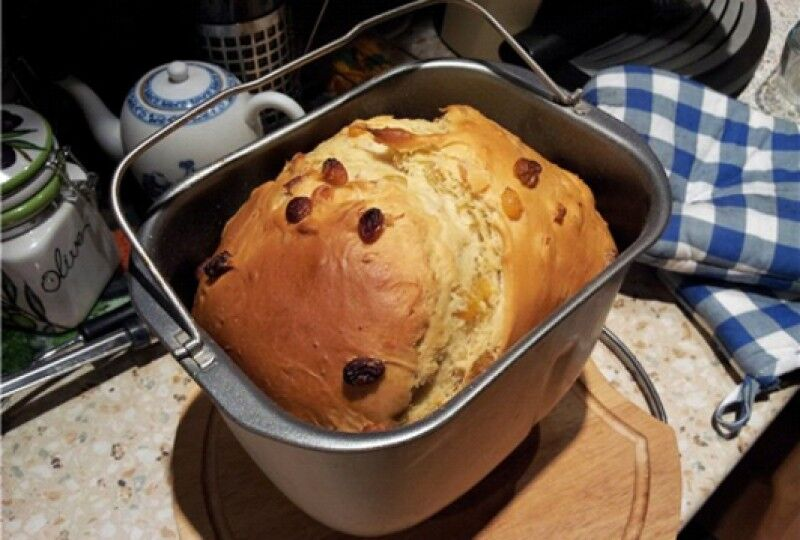 Пасхальный кулич в хлебопечке, рецепт с фото