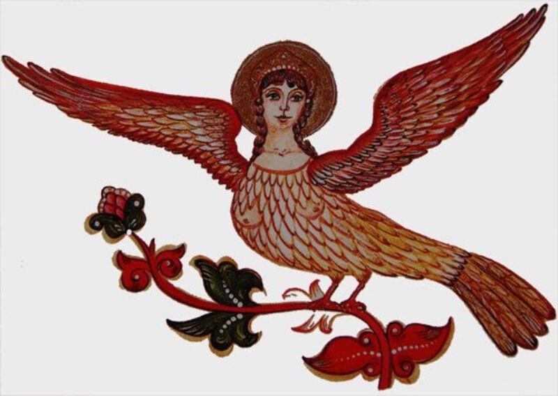 Птица Сирин: картинки, описание
