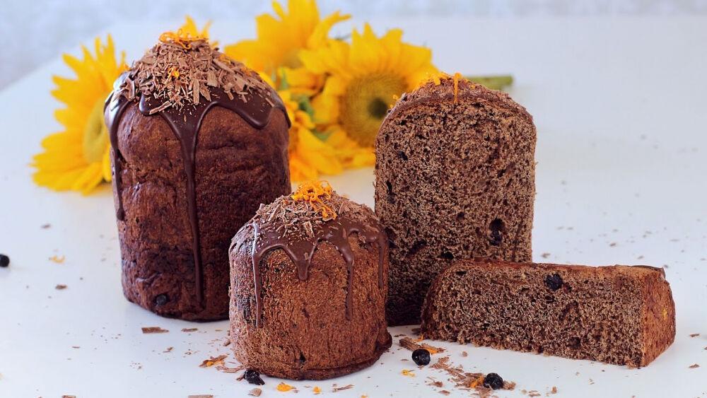Кулич Пасхальный Шоколадный с апельсинами, шоколадом и черносливом ...