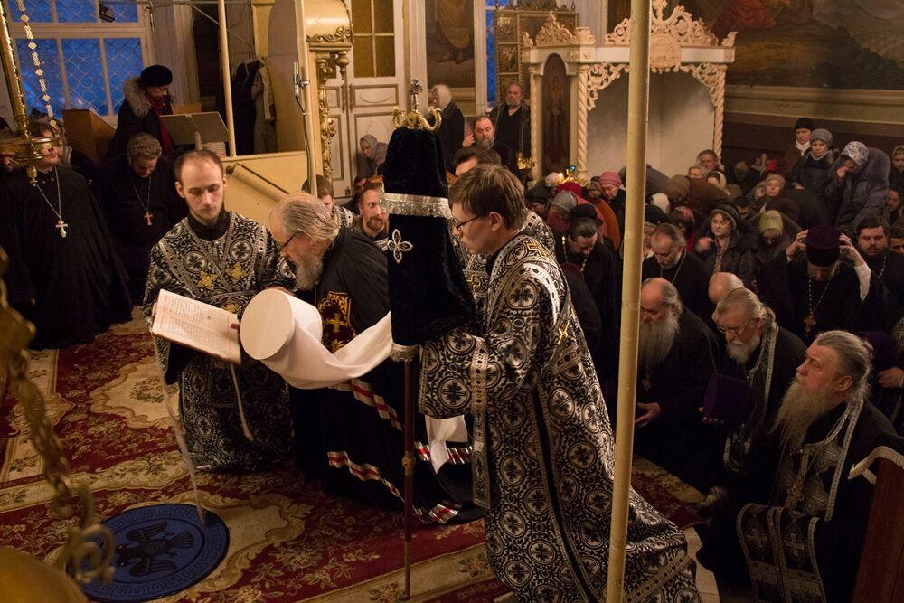 Вечерня с чином прощения в канун поста совершена в Ахтырском ...