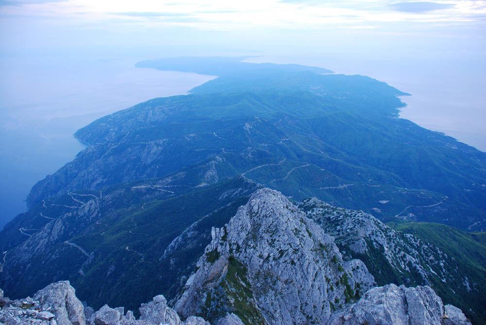 гора монахов в греции