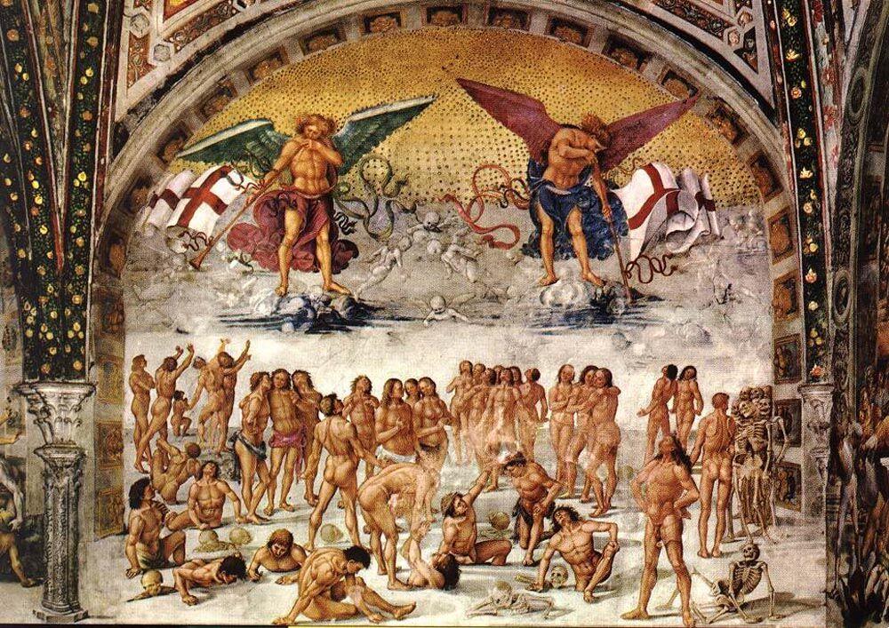 Лука Синьорелли Воскресение плоти: Описание произведения