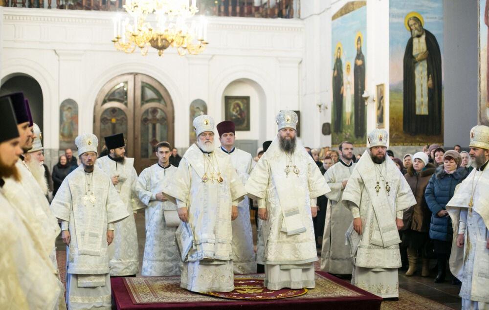 Архипастыри Белорусского экзархата совершили Литургию в Жировичском ...