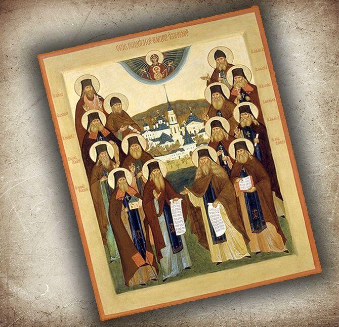 Икона Оптинским старцам