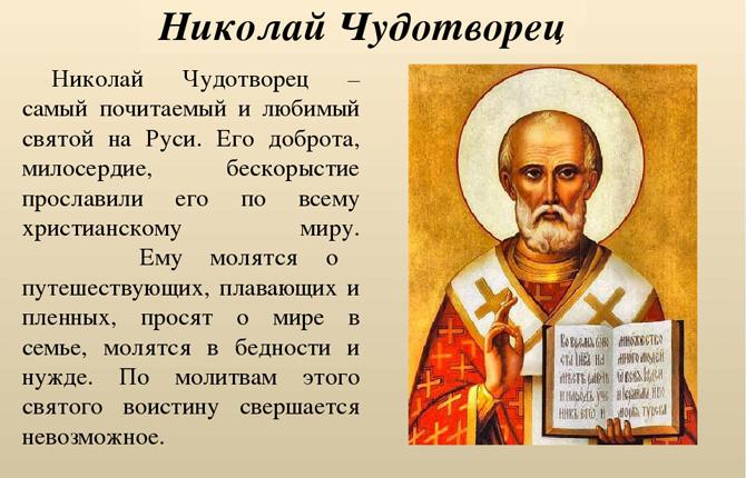 Молитва Святителю Николаю Чудотворцу