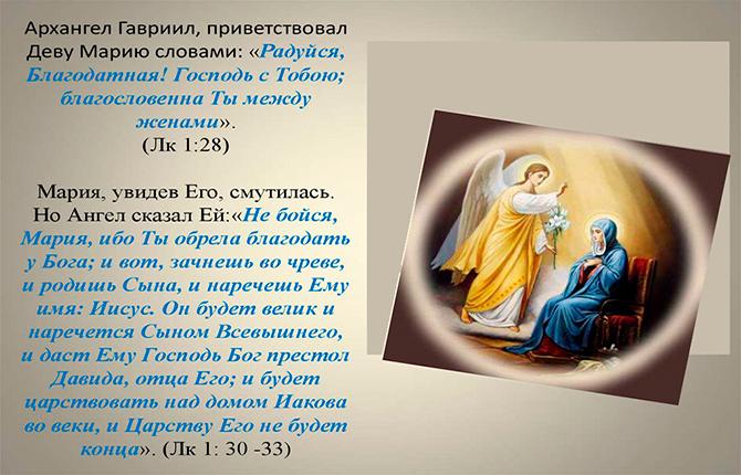 Встреча Марии и Архангела Гавриила